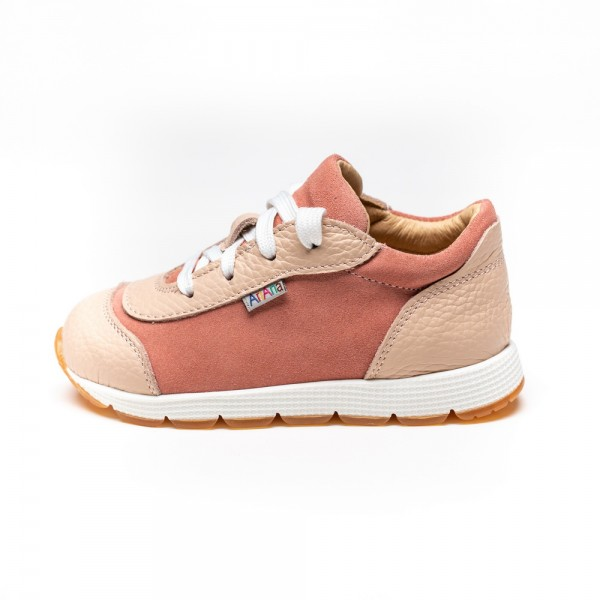 NATURAL LEATHER GIRL SNEAKERS MODEL AGNES