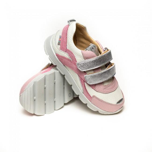 Adidasi din piele naturala pentru fete model AMETHYST