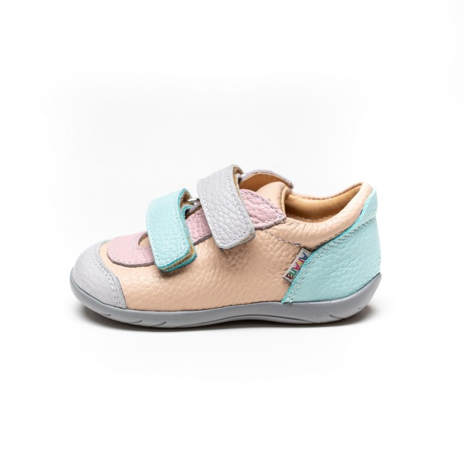 Natural leather girl sneakers model BARBIE