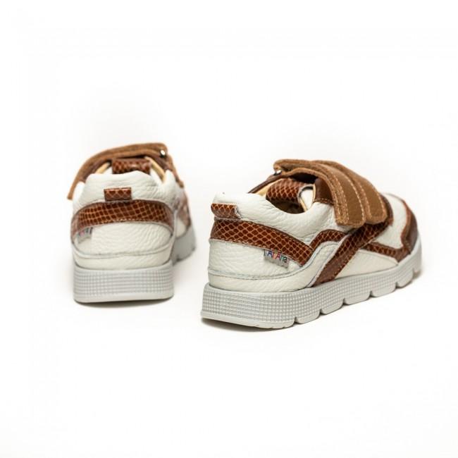 Adidasi din piele naturala pentru baieti model BARCLAY