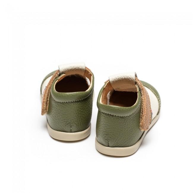 Kids natural leather shoes model KINI