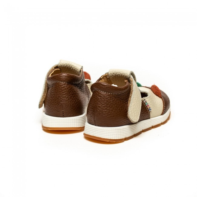 BABY BOY NATURAL  LEATHER SHOES MODEL MAKANI