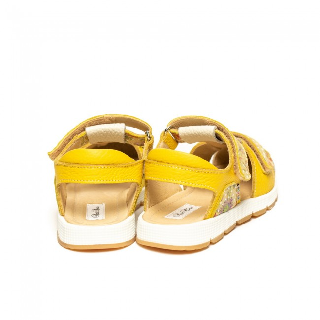 Baby girl natural leather sandals model MALEE
