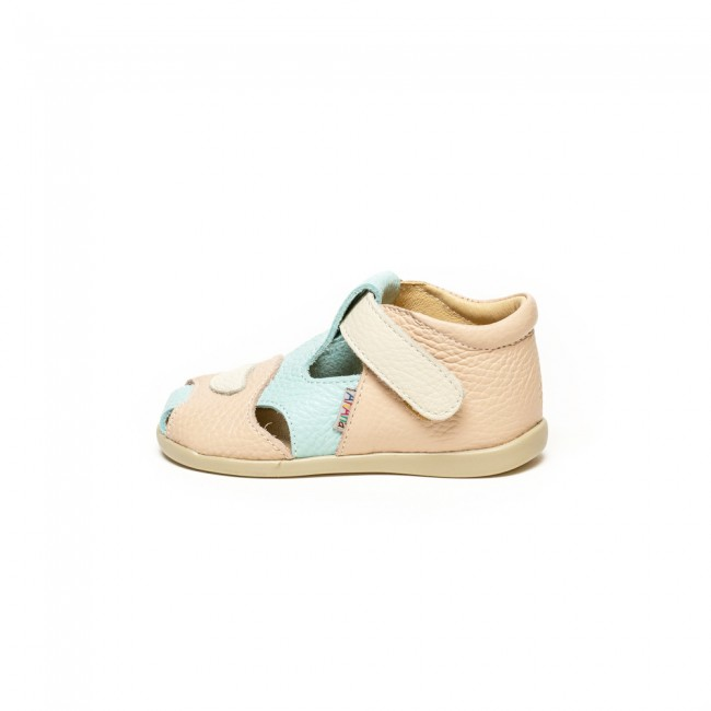 Baby girl natural leather sandals model ROSELANI
