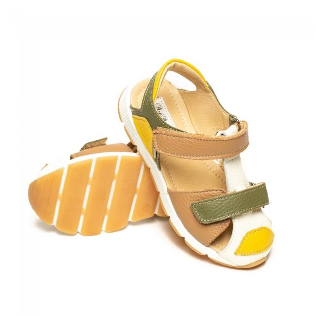 Sandale unisex din piele naturala model UKRIT