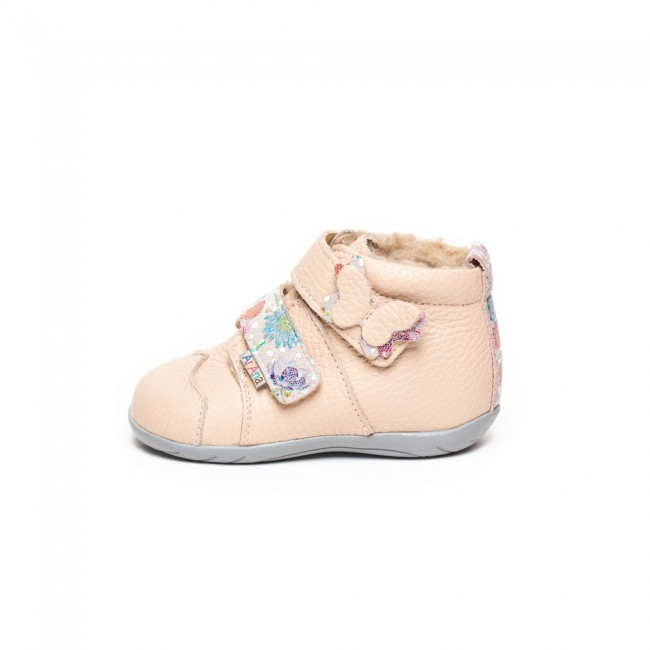 Natural leather baby girl ankle boots model LARA
