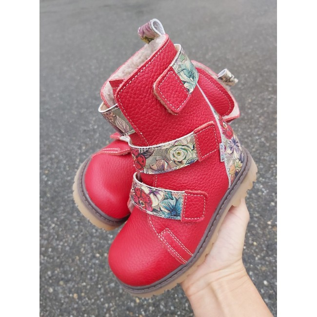 Natural leather baby girl boots model ANNA