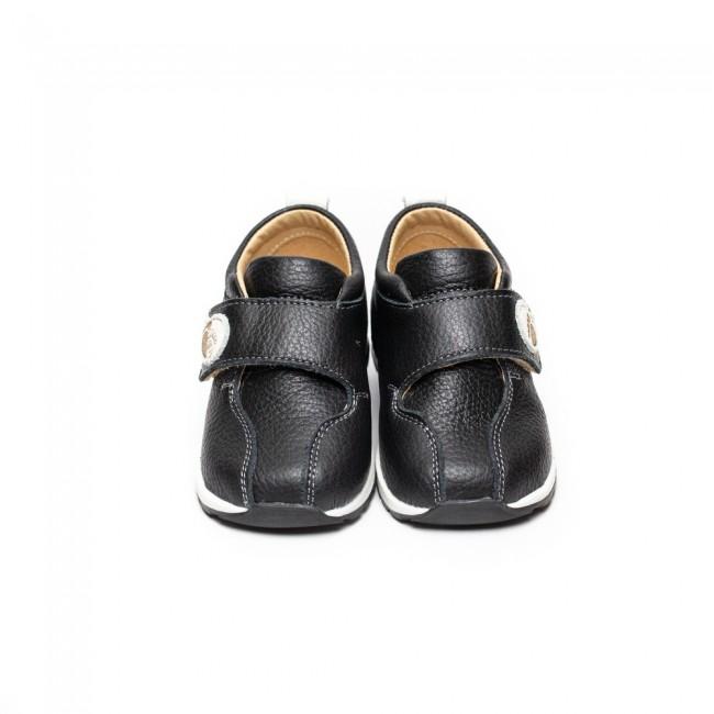 Pantofi pentru copii din piele naturala model BLACK