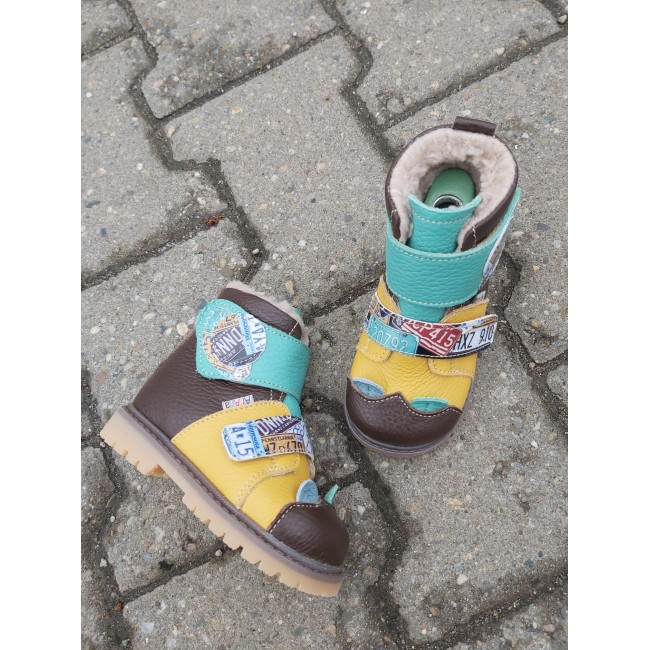 Natural leather kids boots model DANTE