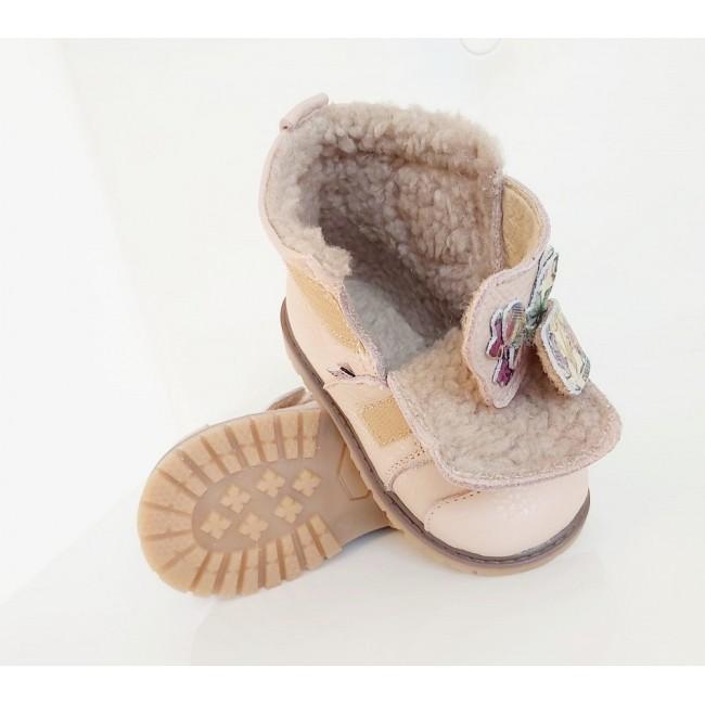 Natural leather kids boots model ELSA